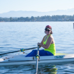 One of our Learn to Row 2020 students getting comfortable in the boat